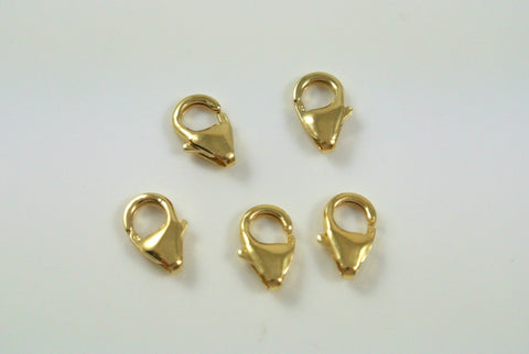 Gold-Filled Clasp Lobster Claw 5x8mm 5 Pieces