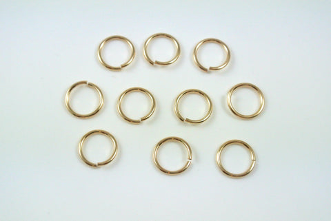 Gold-Filled Jumpring Open Round 8mm 20g 10 Pieces