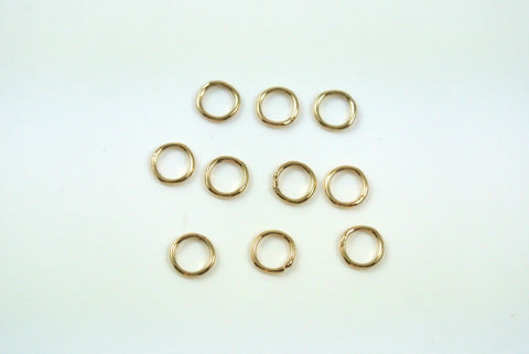 Gold-Filled Jumpring Closed Round 5mm 22g 10 Pieces