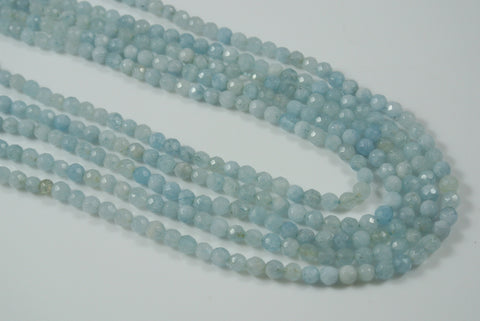 Aquamarine Round Faceted 4mm