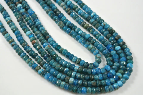 Apatite Rondelle Faceted 4x6mm