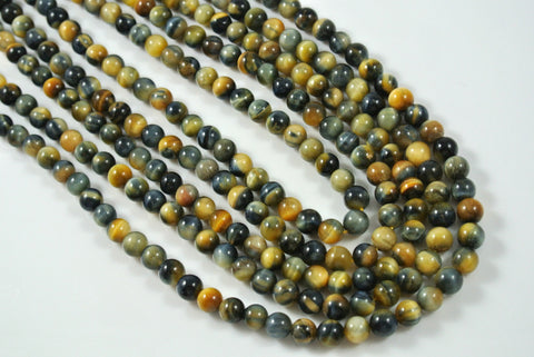 Honey Blue Tiger Eye Round 6mm