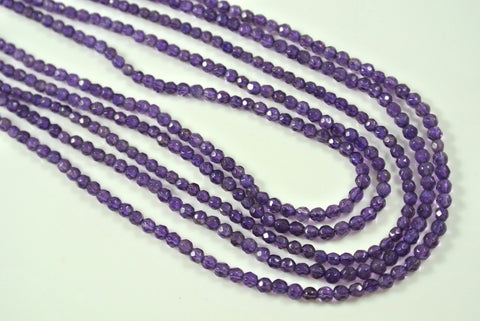 Amethyst Round Faceted 3mm