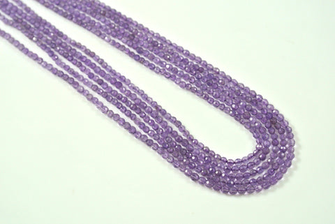 Amethyst Round Faceted 2mm