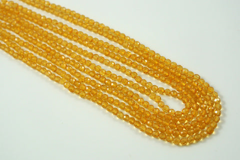 Citrine Round Faceted 3mm