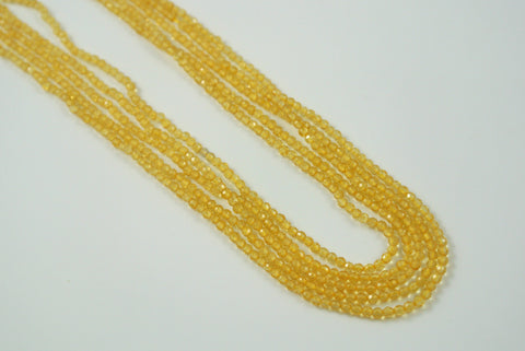 Citrine Round Faceted 2mm