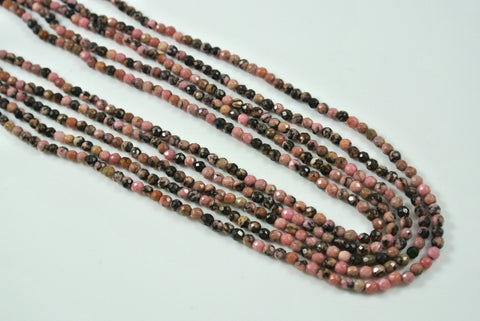 Rhodonite Round Faceted 3mm