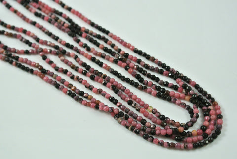 Rhodonite Round Faceted 2mm