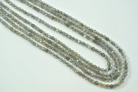 Labradorite Round Faceted 3mm
