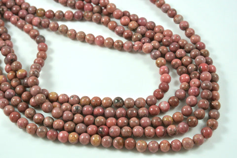Rhodonite Round 6mm