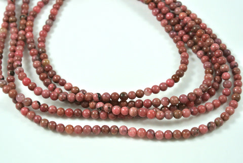 Rhodonite Round 4mm