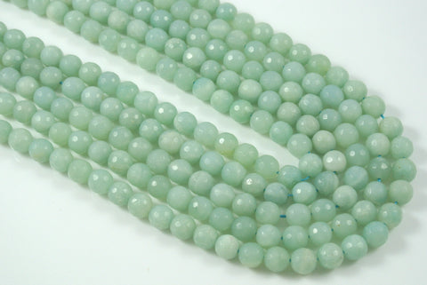 Amazonite Round Faceted 8mm