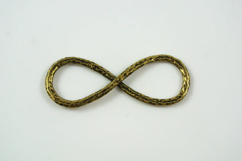 Infinity Symbol Pendant Antique Brass 14x37mm
