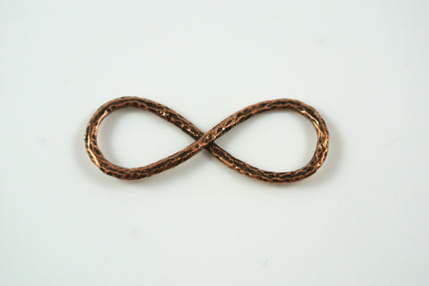 Infinity Symbol Pendant Antique Copper 14x37mm