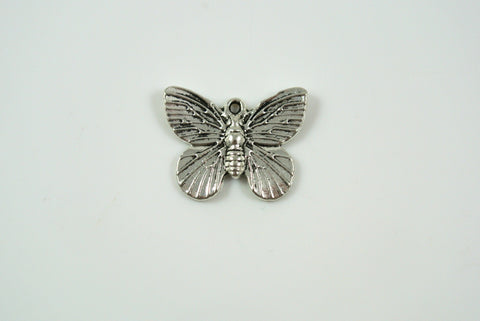 Butterfly Charm Silver 15x18mm 1 Piece