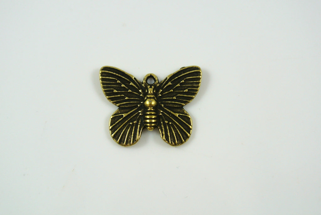 Butterfly Charm Antique Brass 15x18mm 1 Piece