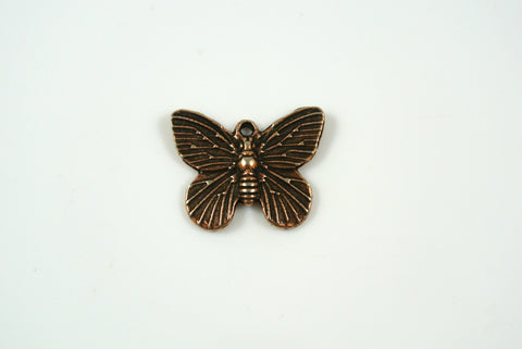 Butterfly Charm Antique Copper 15x18mm 1 Piece