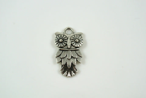 Owl Charm Silver 11x20mm 1 Piece