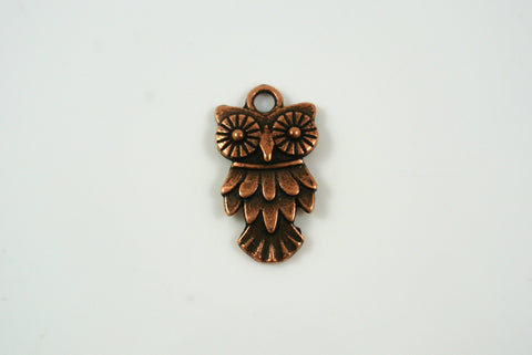 Owl Charm Antique Copper 11x20mm 1 Piece