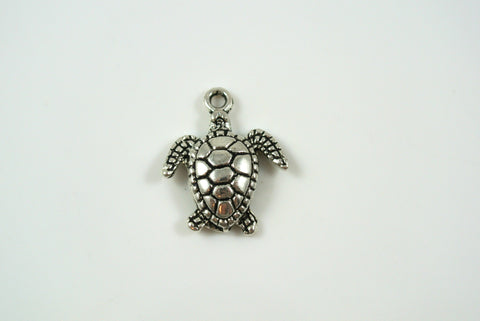 Sea Turtle Silver 15x18mm 1 Piece