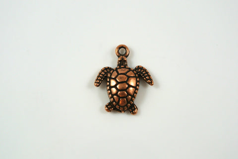 Sea Turtle Antique Copper 15x18mm 1 Piece