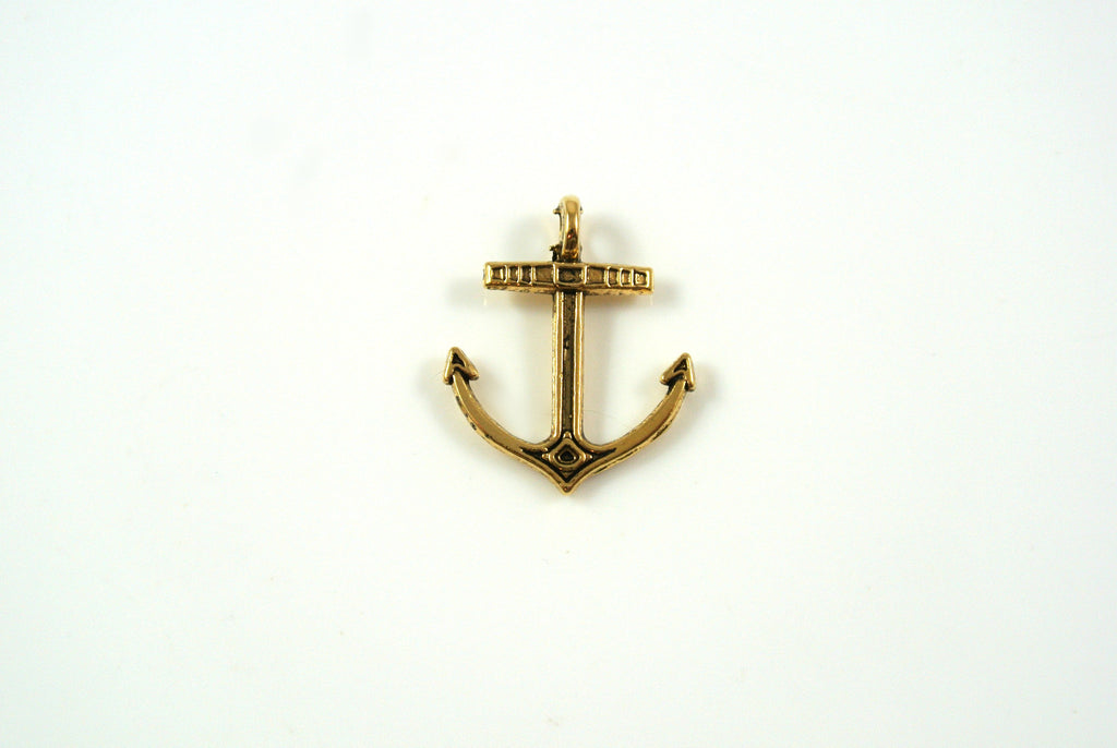 Anchor Charm Antique Gold 14x17mm 1 Piece
