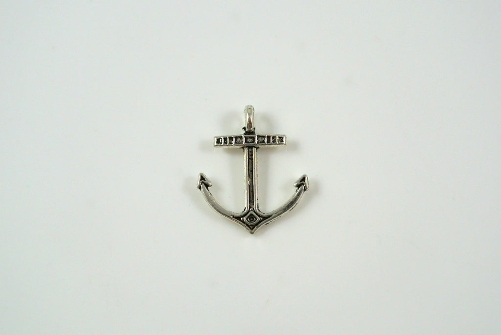 Anchor Charm Silver 14x17mm 1 Piece