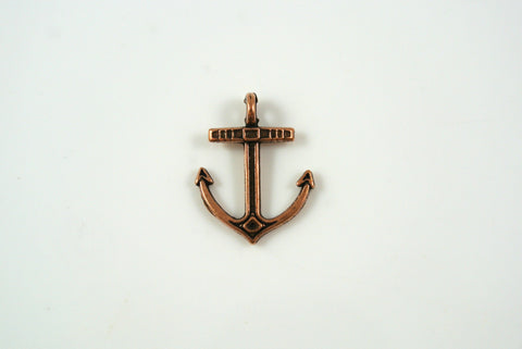 Anchor Charm Antique Copper 14x17mm 1 Piece