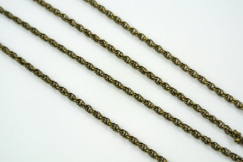 Chain Spiral Rope Anitque Brass 1.6mm