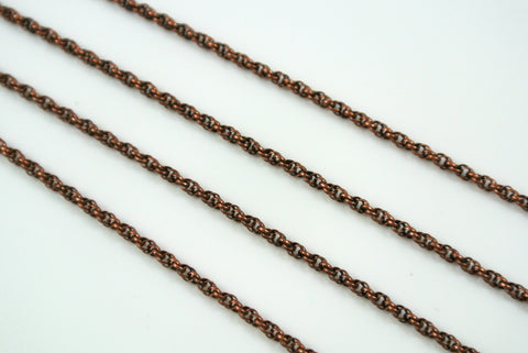 Chain Spiral Rope Anitque Copper 1.6mm