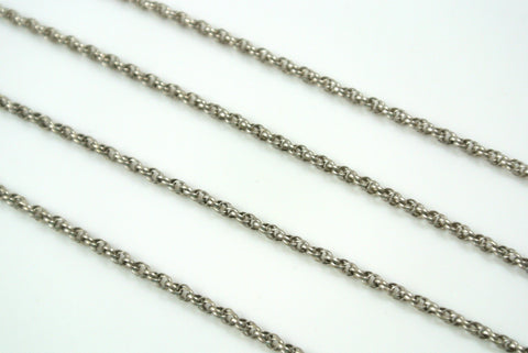 Chain Spiral Rope Antique Silver 1.6mm
