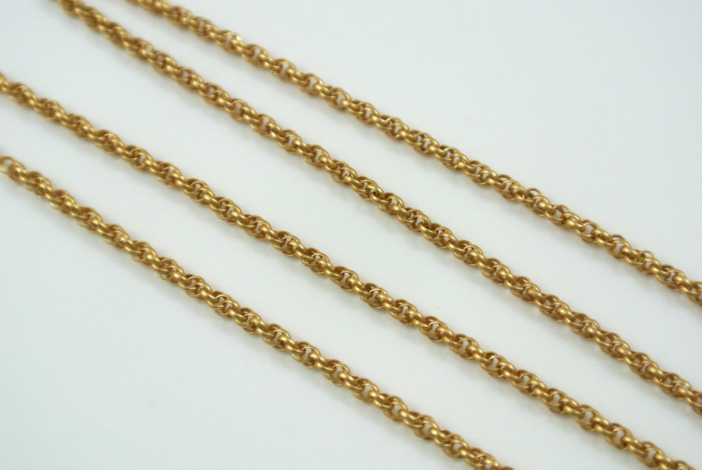 Chain Spiral Rope Satin Gold 1.6mm