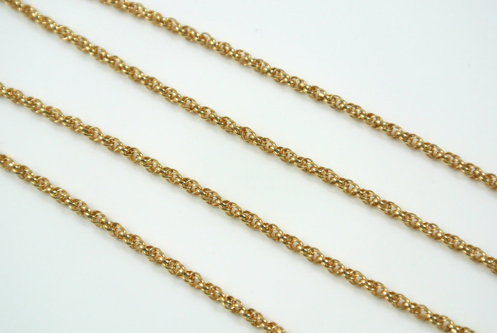 Chain Spiral Rope Gold 1.6mm