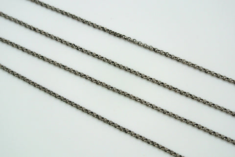 Chain Mini Rolo Antique Silver 1.2mm
