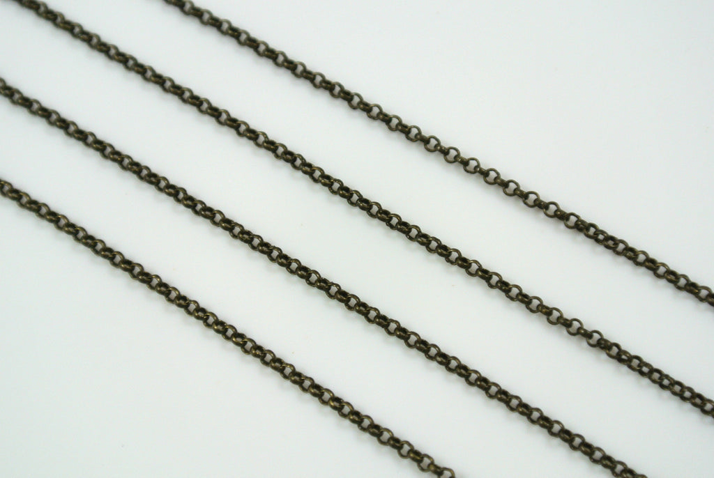 Chain Mini Rolo Antique Brass 1.2mm