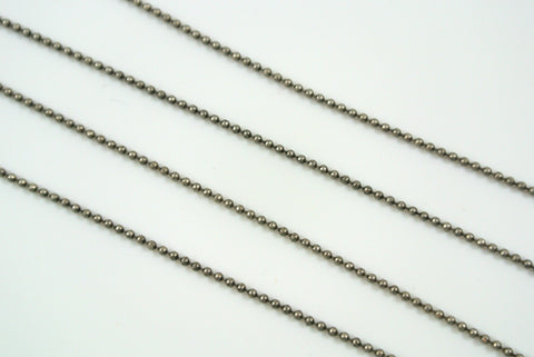 Chain Mini Ball Diamond Cut Antique Silver 1mm