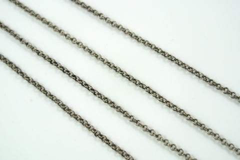 Chain Double Rolo Antique Silver 2mm