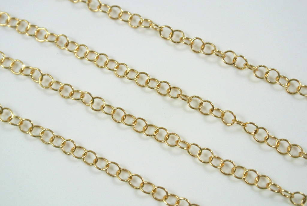 Chain Fine Round Cable Gold 4mm