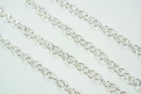 Chain Fine Round Cable Silver 4mm