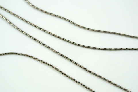 Chain Beading Rope Antique Silver 0.7mm
