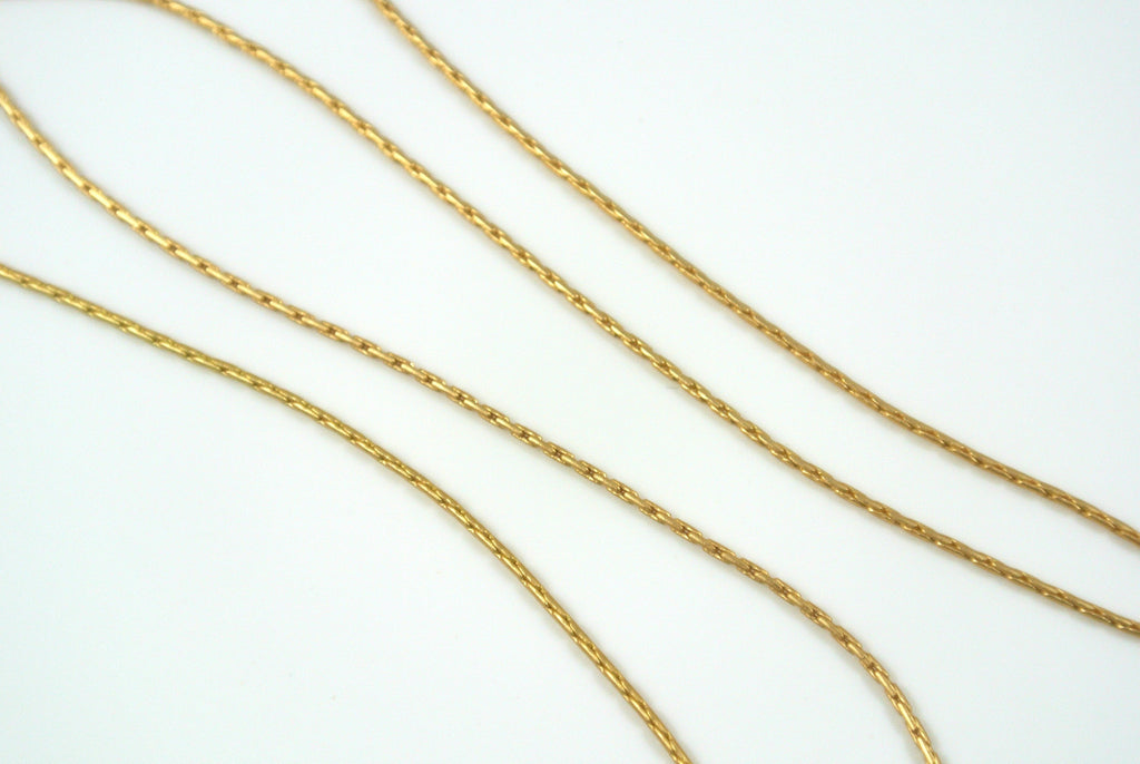 Chain Beading Rope Satin Gold 0.7mm
