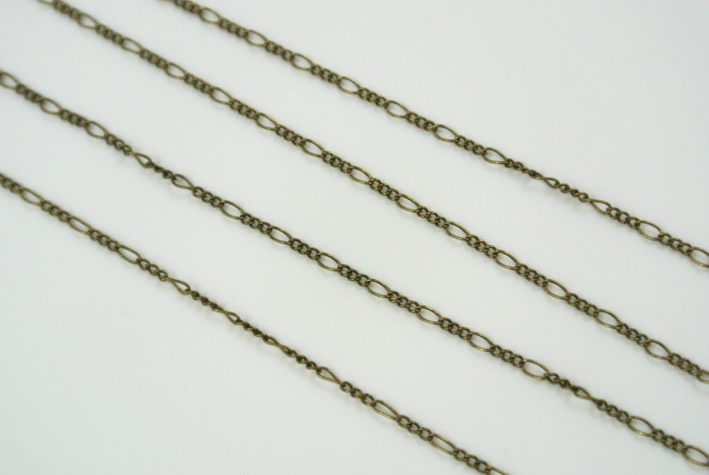 Chain Fine Figaro Antique Brass 1mm
