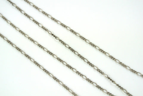 Chain Fine Figaro Antique Silver 1mm