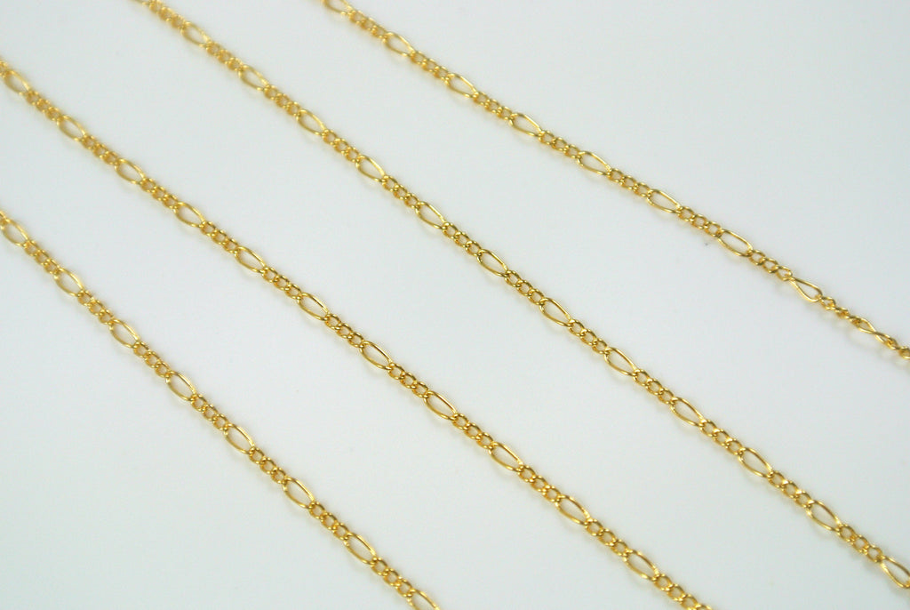 Chain Fine Figaro Gold 1mm