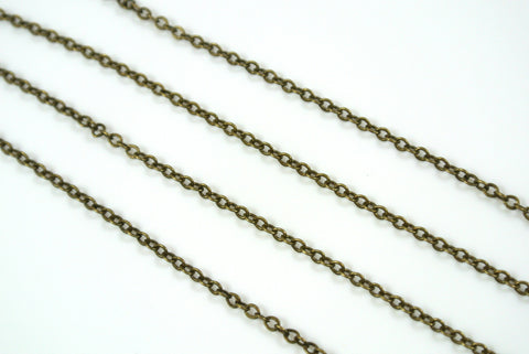 Chain Cable Antique Brass 1.7mm