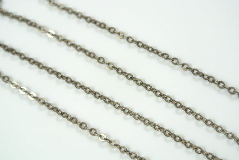 Chain Cable Antique Silver 1.7mm