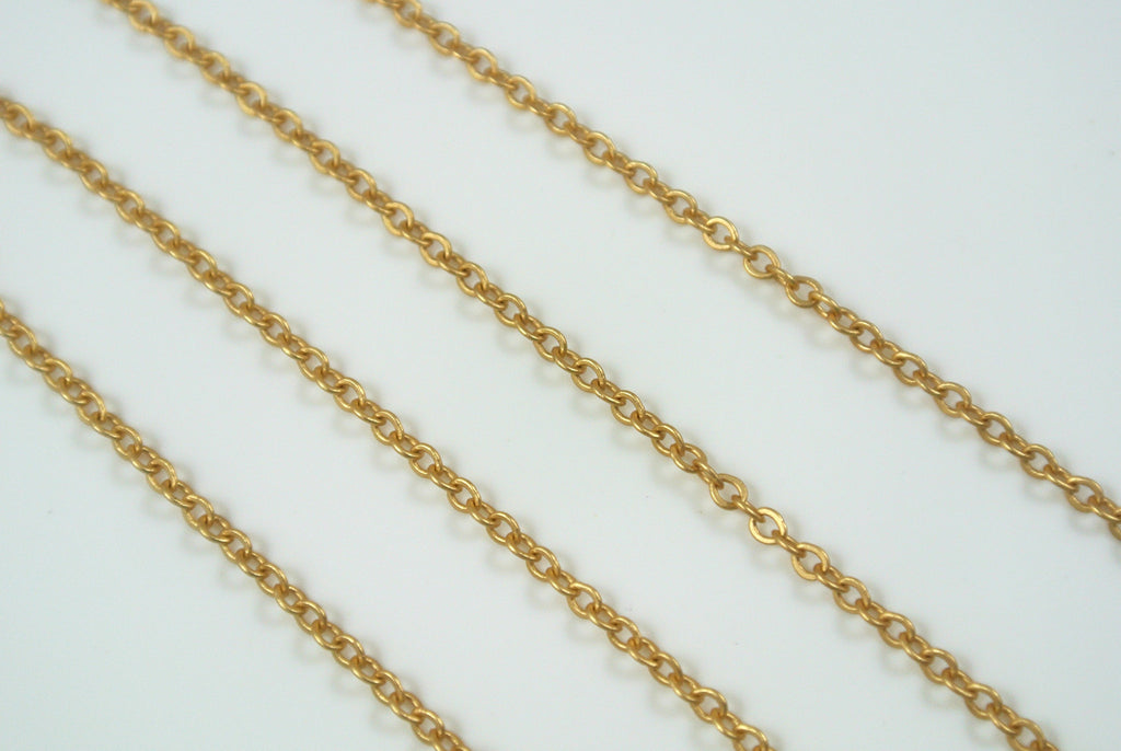 Chain Cable Satin Gold 1.7mm