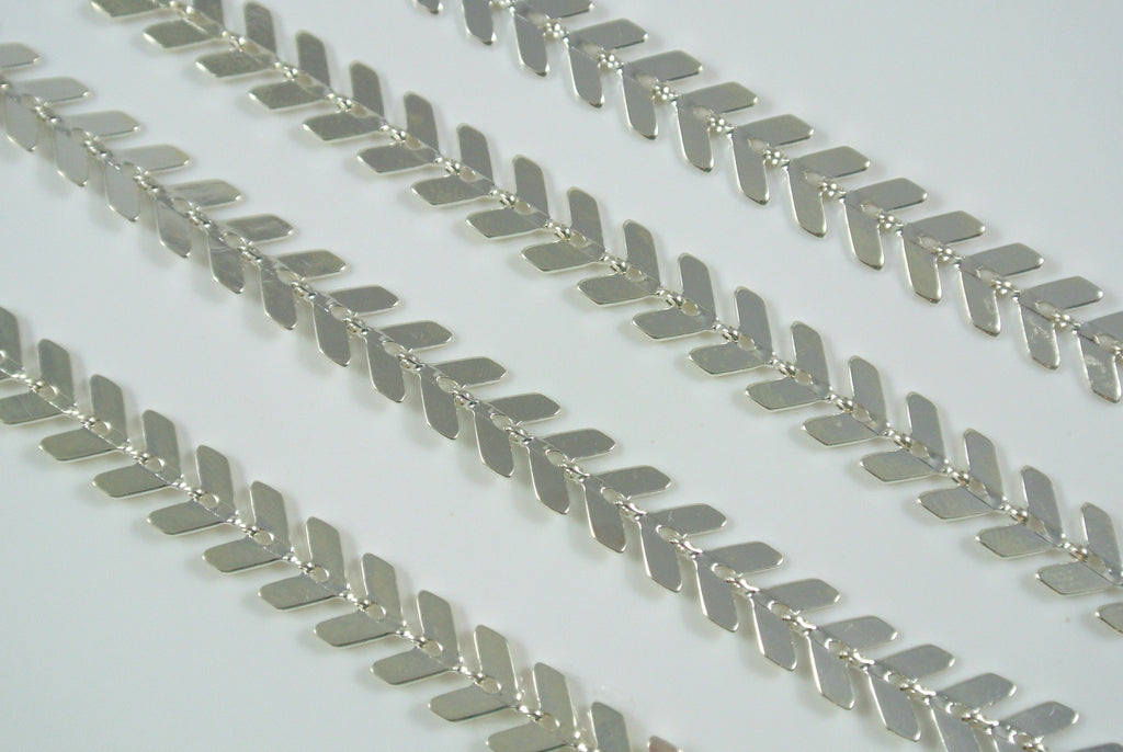 Chain Chevron Silver 6.5mm
