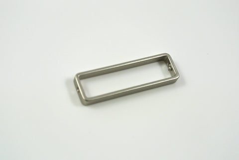 Bead Frame Rectangle 8x26mm Satin Rhodium Electroplated 1 Piece