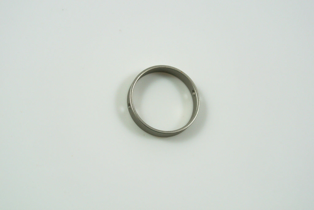 Bead Frame Round 13mm Satin Rhodium Electroplated 1 Piece